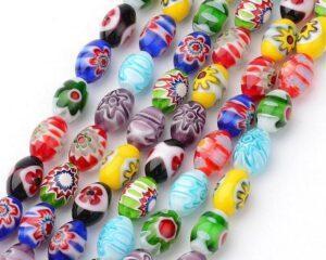 Perle in resina, vetro e ceramica